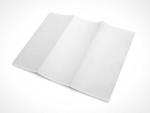 3 Panel Tri-Fold Brochure PSD Mockup