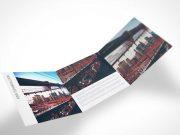 3 Panel Tri-Fold PSD Mockup Flyer
