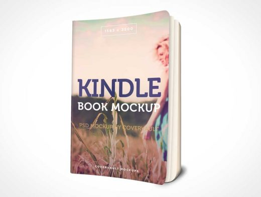 3D Kindle Paperback PSD Mockup Book