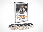 5 CD Study Course with DVD Case PSD Mockup