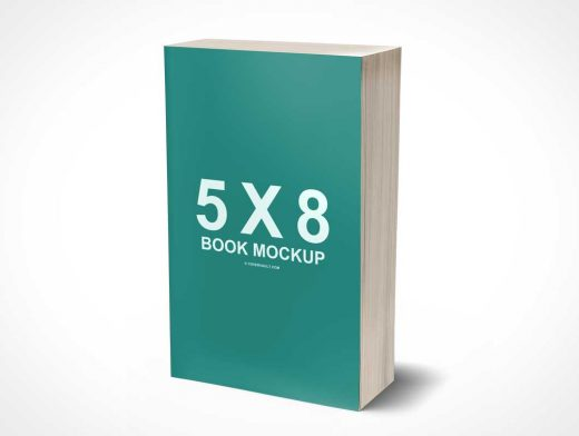 5 x 8 Mass Market Paperback 3D PSD Mockup Book