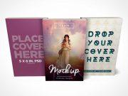 5 x 8 Paperback Book PSD Mockup Trio Set