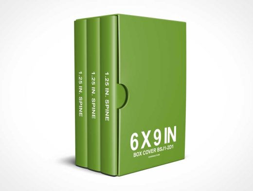 6 x 9 Book Box Set PSD Mockup (Reinvented)