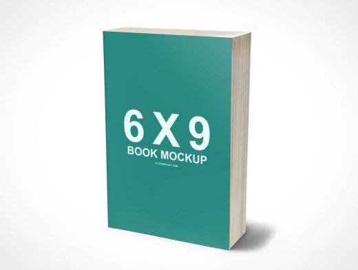 6 x 9 Mass Market PSD Mockup Paperback 3D Book