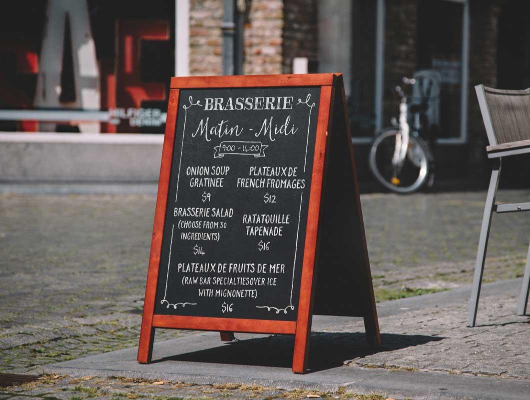 a frame chalkboard menu psd mockup sidewalk sign