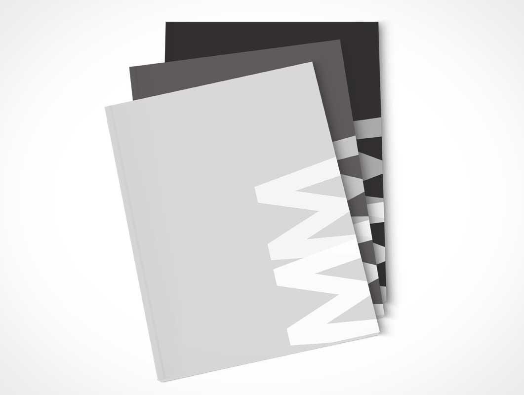 A4 Magazine Bundle PSD Mockup Multiple Views