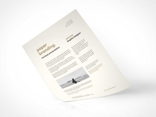 A4 Paper Branding PSD Mockup Letterhead Presentation