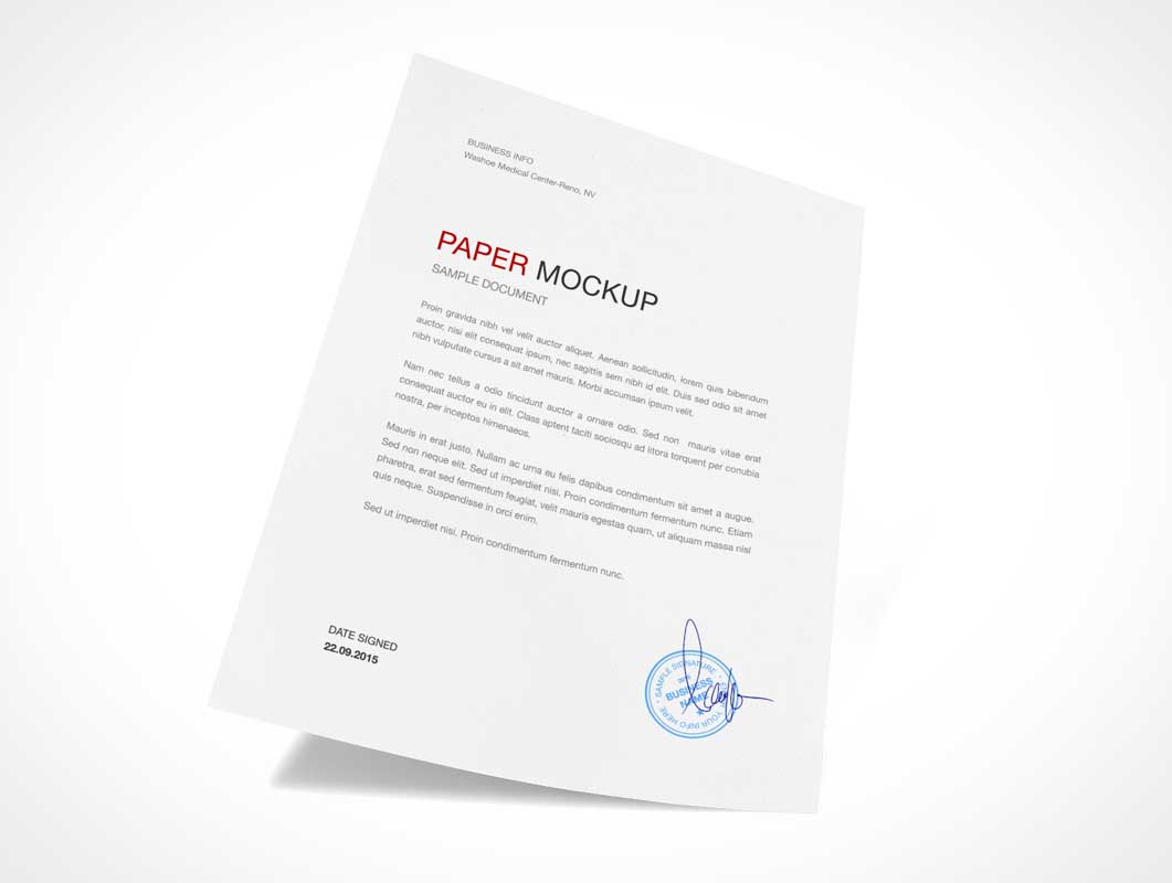 A4 Sheet of Paper PSD Mockup