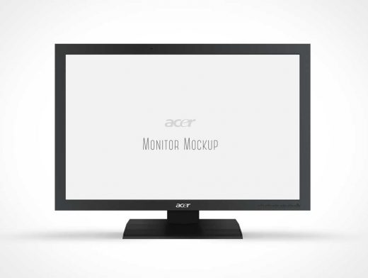 Acer Monitor Display PSD Mockup