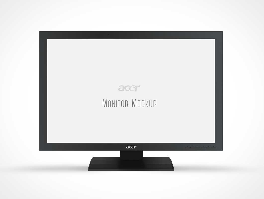 Acer Monitor Display PSD Mockup