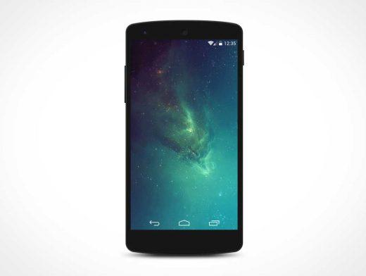 Android Nexus 5 PSD Mockup