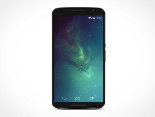 Android Nexus 6 PSD Mockup
