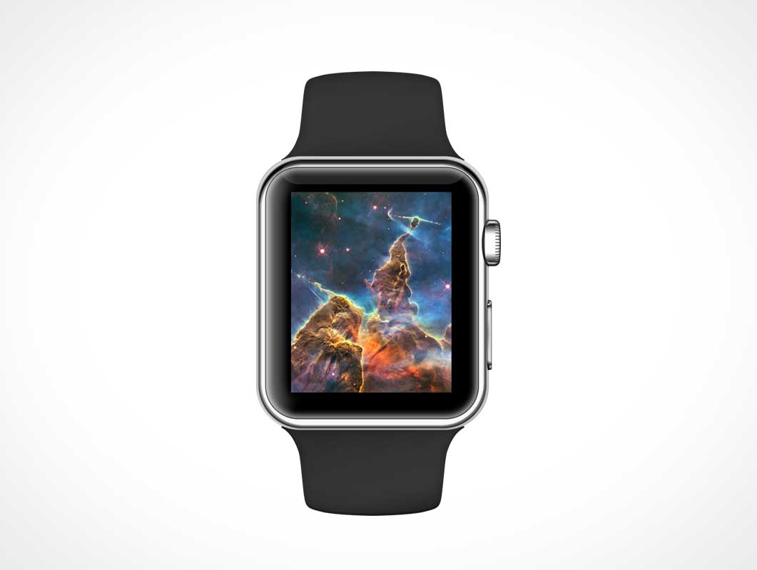 Apple Watch Sport PSD Mockup With Wristband