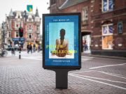 Backlit Street Billboard PSD Mockup With Poster Advert