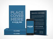 Book Promotion PSD Mockup with iPhone eReader App