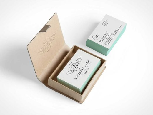 Boxed Business Card PSD Mockup Vol22