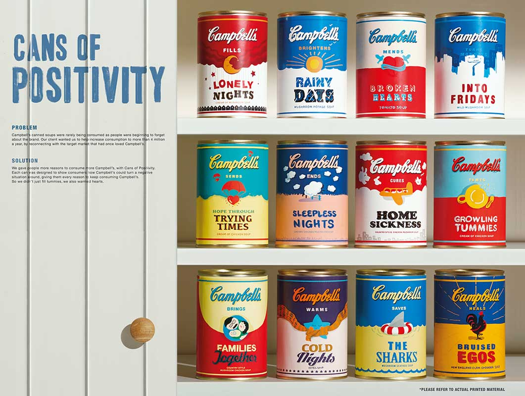 Campbell's Cans Of Positivity