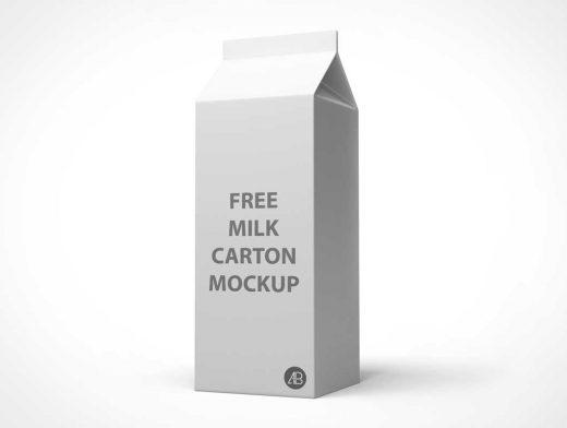 Cardboard Milk Carton PSD Mockup