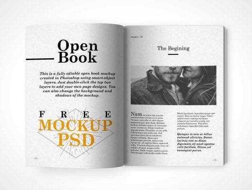 Centrefold Magazine PSD Mockup Face On