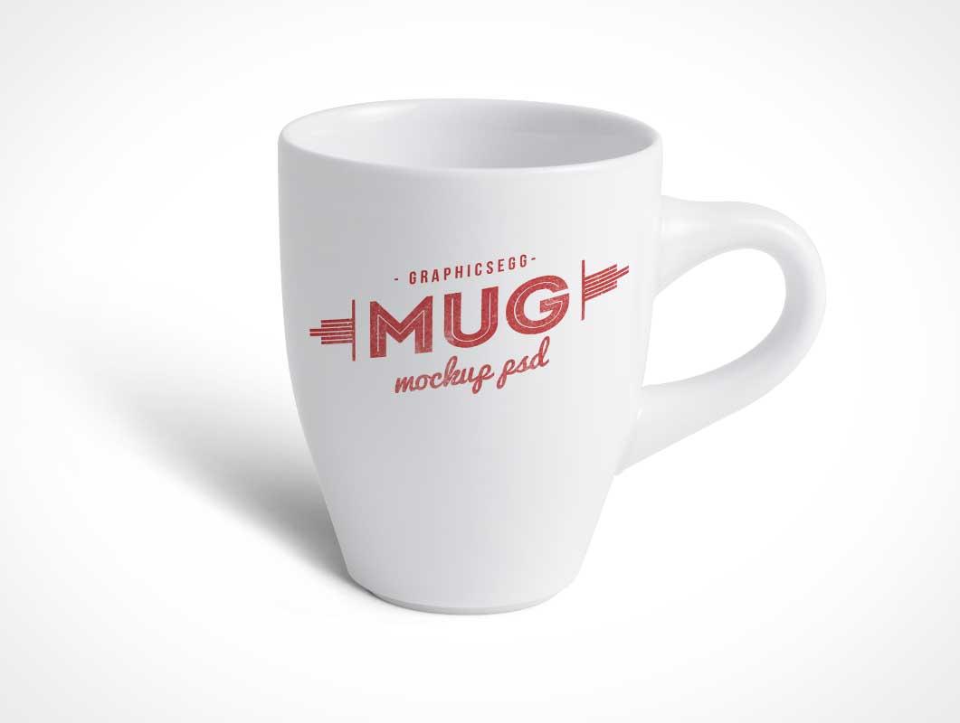Ceramic Cafe Coffee Cup PSD Mockup