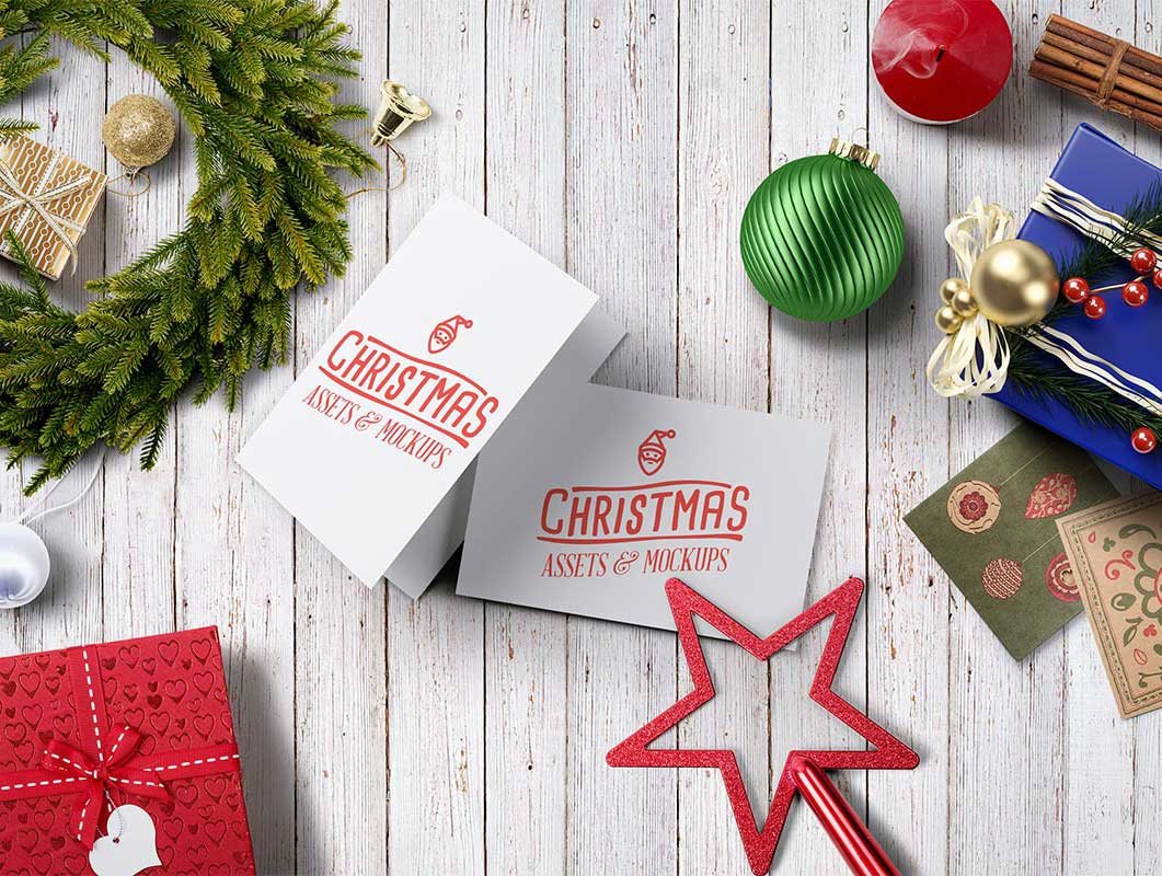 Christmas Assets And PSD MockUps