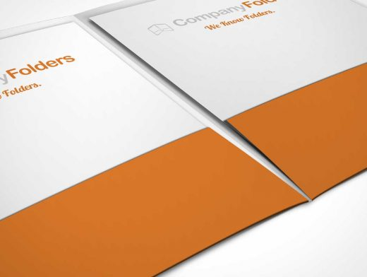 Close Up Pocket Folder PSD Mockup