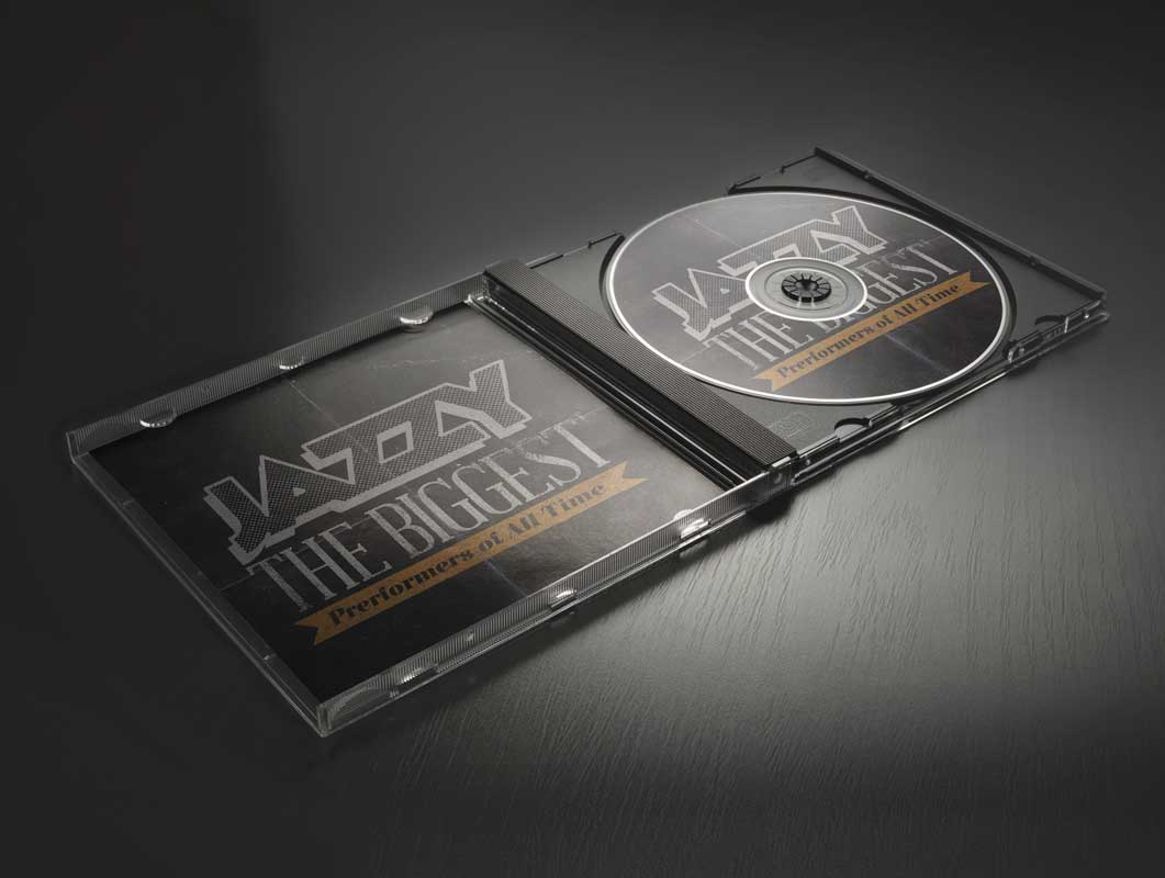 Compact Disc PSD Mockup With Jewel Case