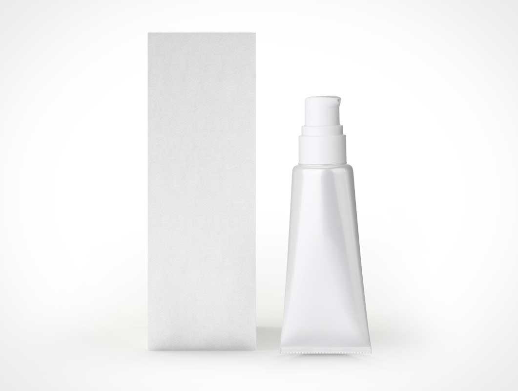 Cosmetic Cream Box PSD Mockup Composition