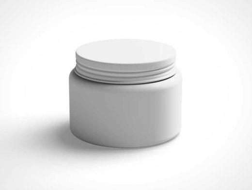 Cosmetics Jar PSD Mockup With Twist Lid