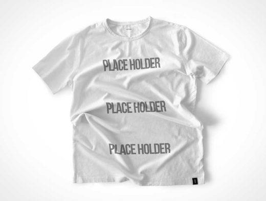 Disheveled T-Shirt PSD Mockup