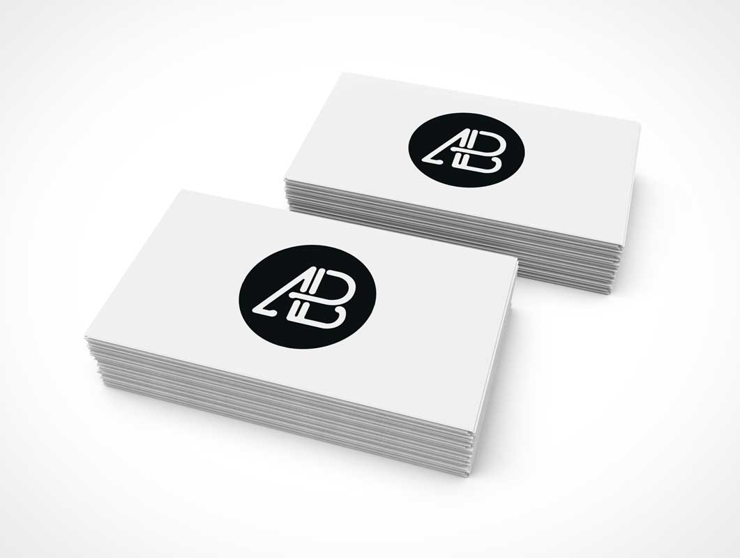 Stack of business cards reheart Images
