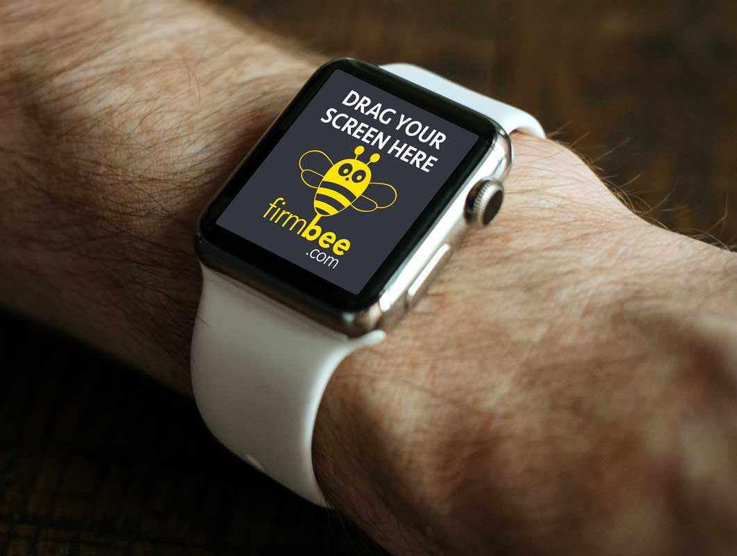 Free Apple Smart Watch PSD Mockup