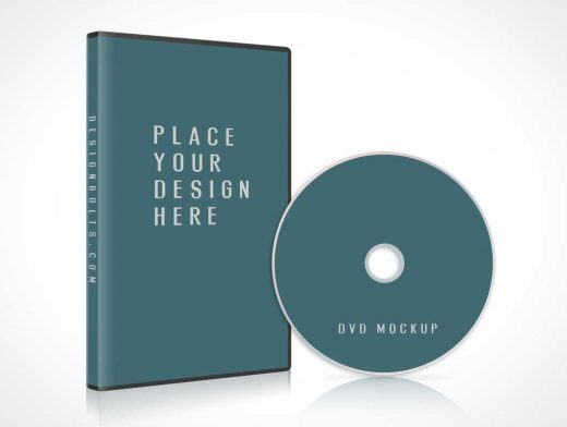 Free CD DVD Jewel Case With Disc Cover PSD Mockup