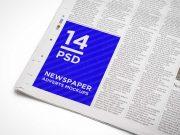 Free Newspaper PSD Mockup Advert