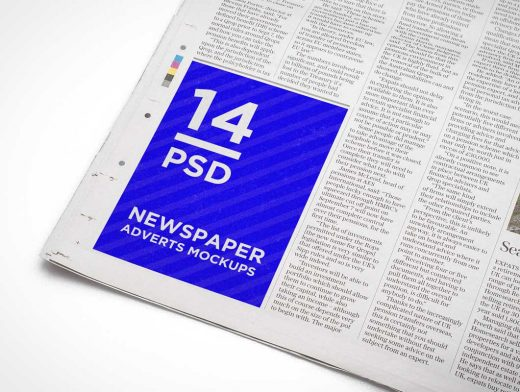 Free Newspaper PSD Mockup Advert