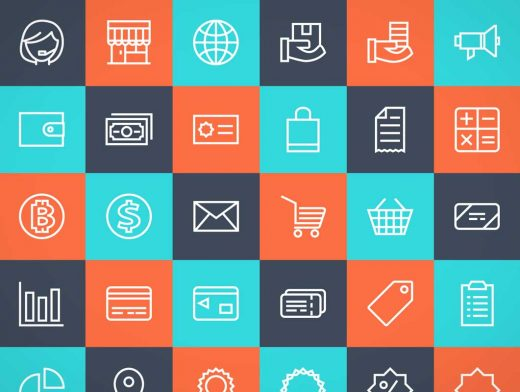 Free Shopping Icons PSD