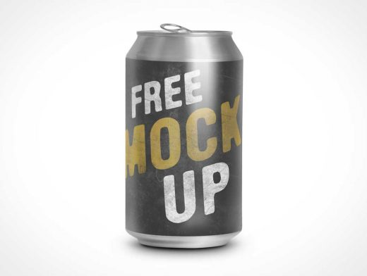 Free Standing Opened Soda Can PSD Mockup