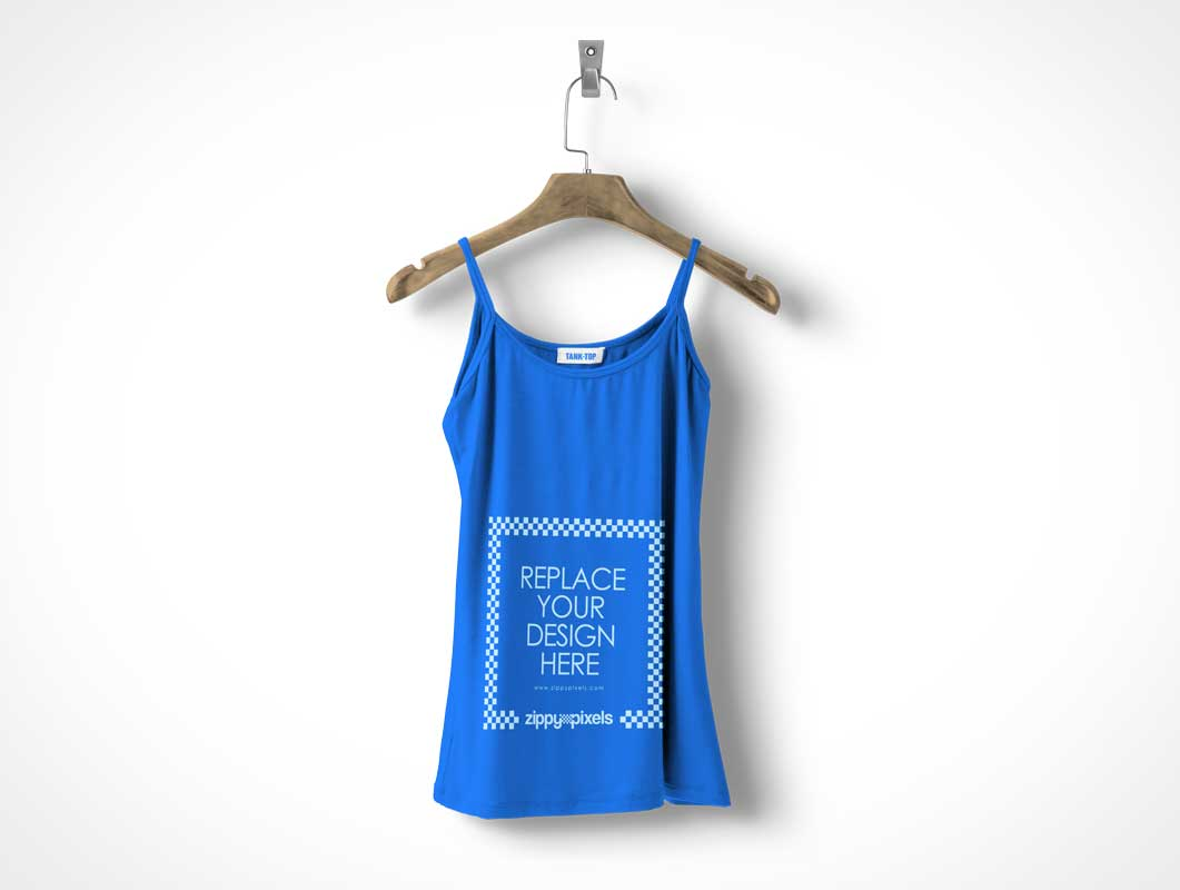 Free Womens Tank Top PSD Mockup In Hi-Res Detail