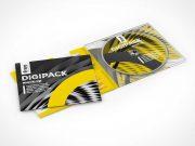 Free digipack PSD Mockup CD DVD Jewel case and Sleeve