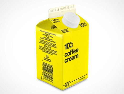 Half Pint Milk Carton PSD Mockup