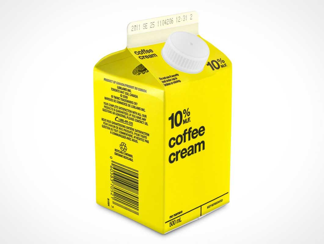 Half Pint Milk Carton PSD Mockup