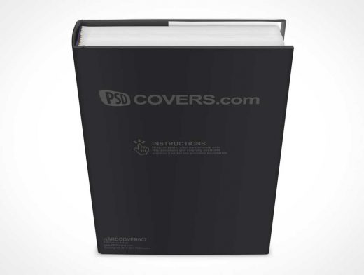 Hardcover Book PSD Mockup Above Front View