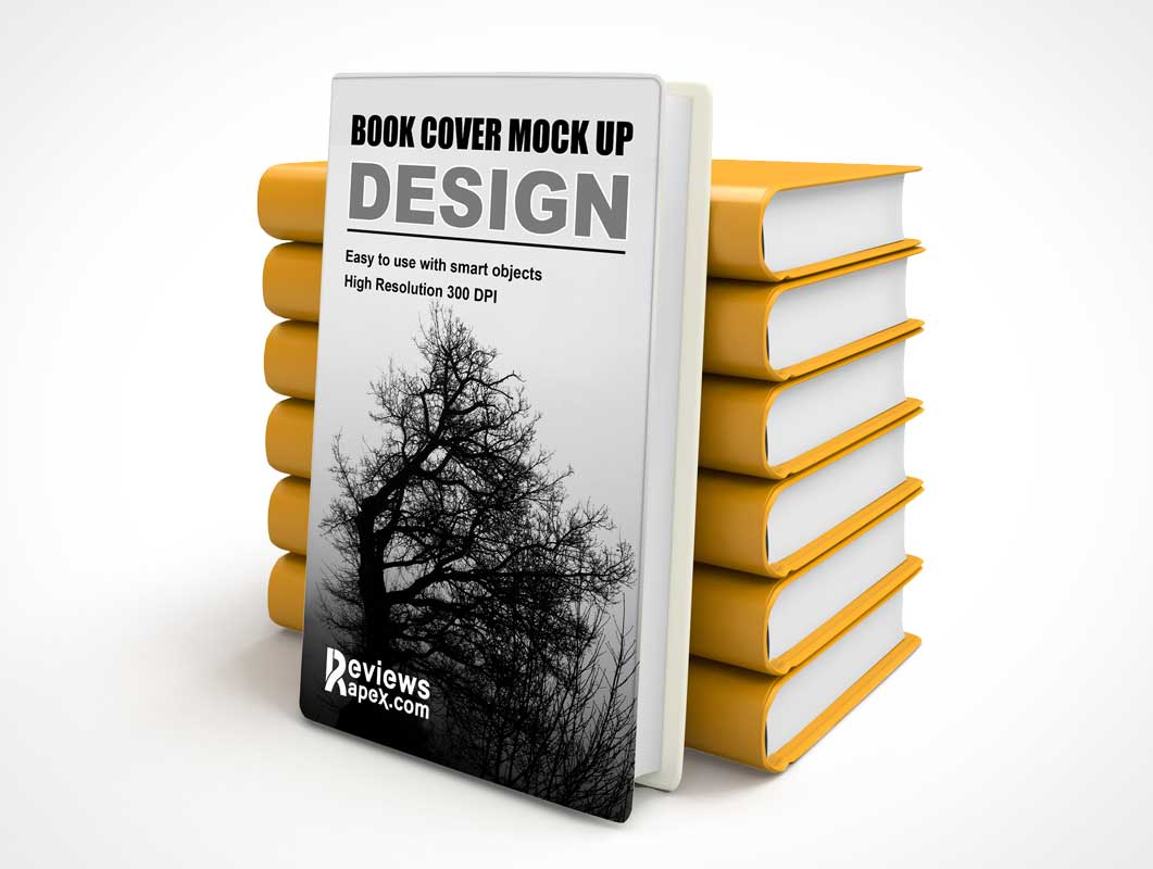 Hardcover Diary PSD Mockup Stacked Book Design