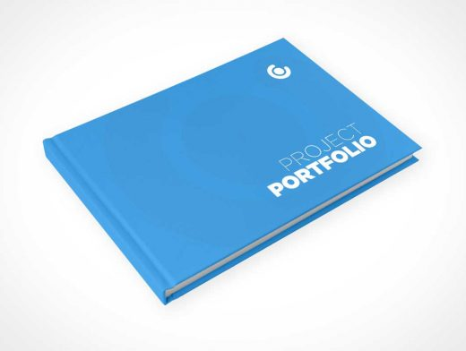 Hardcover Landscape Book PSD Mockup Cover Closed