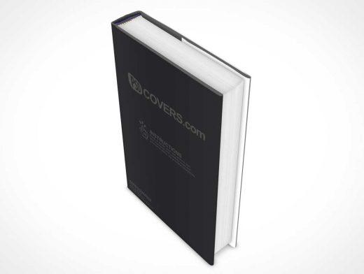 Hardcover PSD Mockup Book Dramatic Downward View