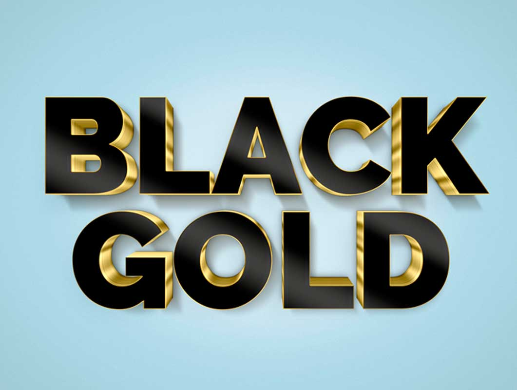 How to Create a 3D Black and Gold Text and Logo Mockup