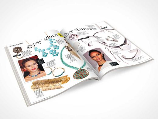 Magazine Centrefold PSD Mockup