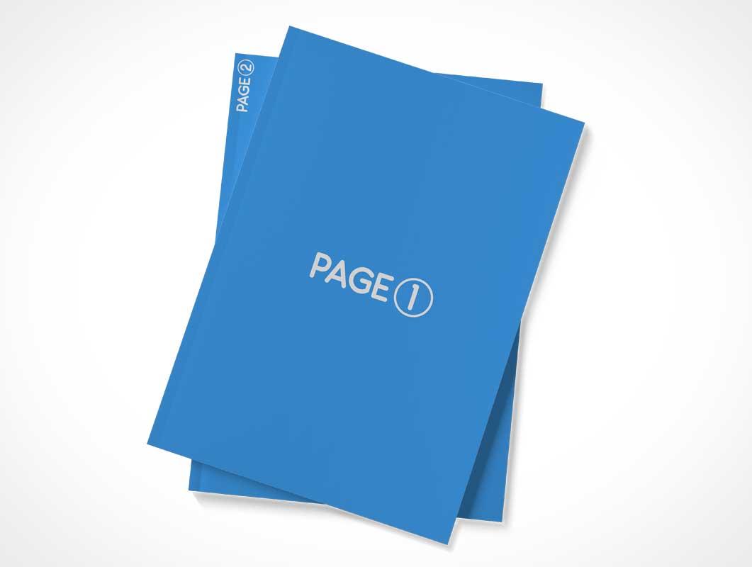 Magazine Mini Stack PSD Mockup