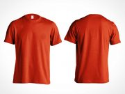 Men's Gildan Cotton T-Shirt PSD Mockup Front and Back