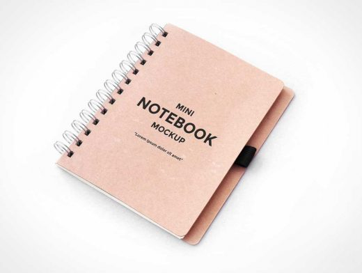 Metal Ring Bound PSD Mockup Sketch Notebook